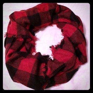 Accessories - Red and black buffalo check scarf